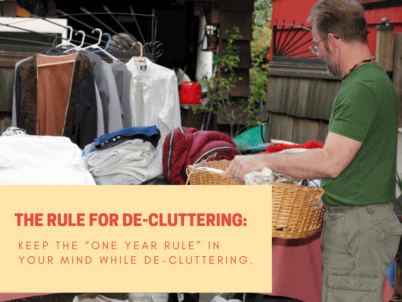 Declutter belongings